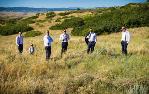 Groomsmen in a field