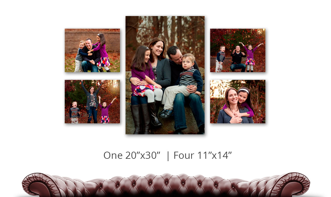 Five Piece Gallery Wrap Grouping