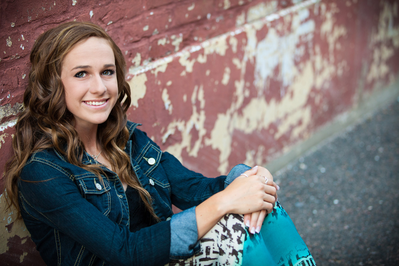 Urban senior portraits session