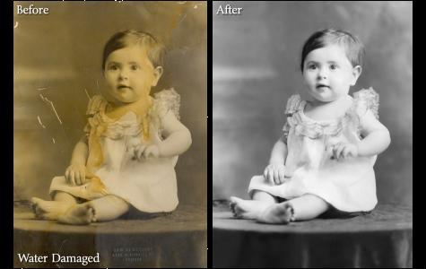 Water Damaged Photo Restoration Sample