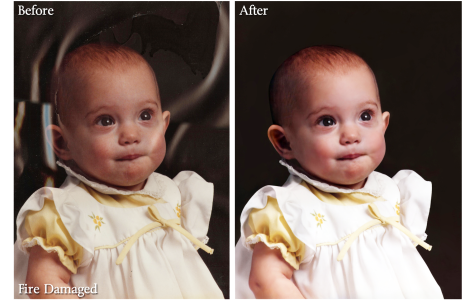Fire Damaged Photo Restoration Sample