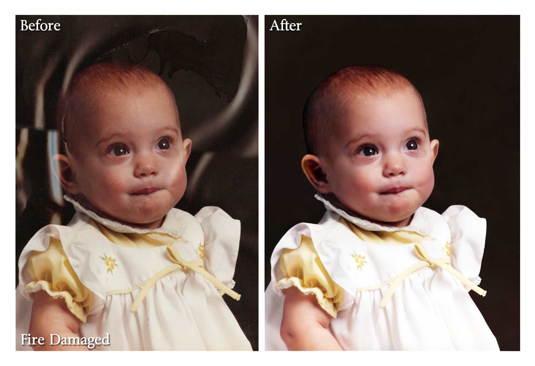 Fire Damaged Photo Restoration Sample Mountain View